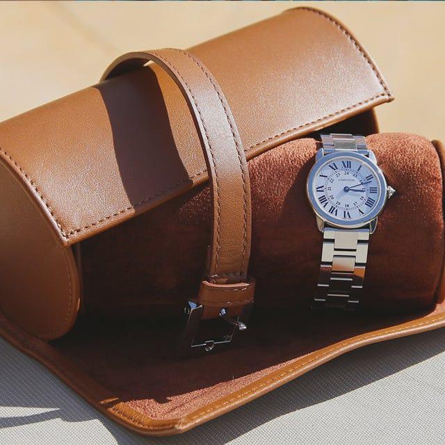 Étui rond pour 2 montres