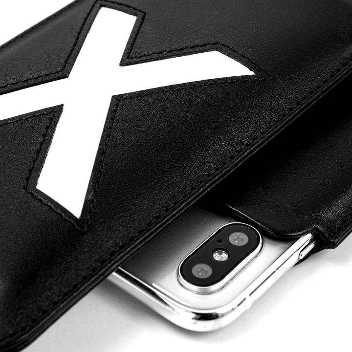 iPhone X Special Edition Case - Black-White - Smooth Leather